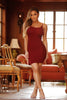 Francie Dress - Burgundy