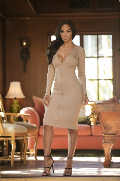 Galore Dress - Taupe