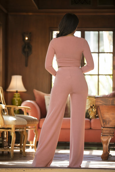 Avery Pants - Dusty Pink
