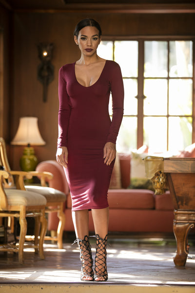 Lira Dress - Wine