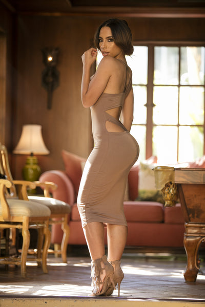 Back to Back Dress - Camel