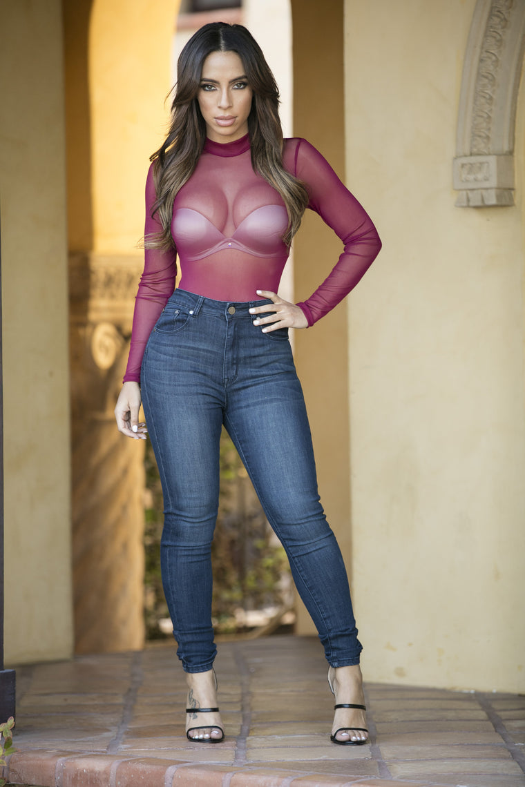 Show Stopper Bodysuit - Burgundy