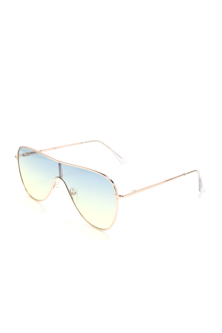 You Should Block Him sunglasses - Gold/Multi
