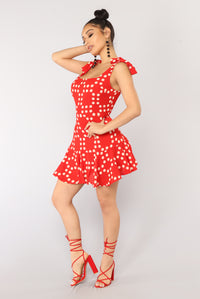 Know Love Polka Dot Dress - Red