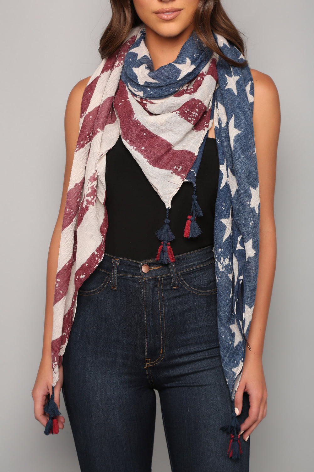 Stars And Stripes Scarf - Red/Multi