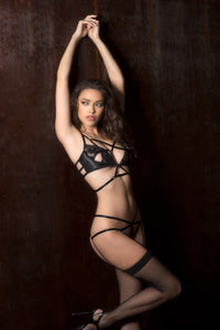 Let Me Love You Bra & Panty Set - Black Angle 3