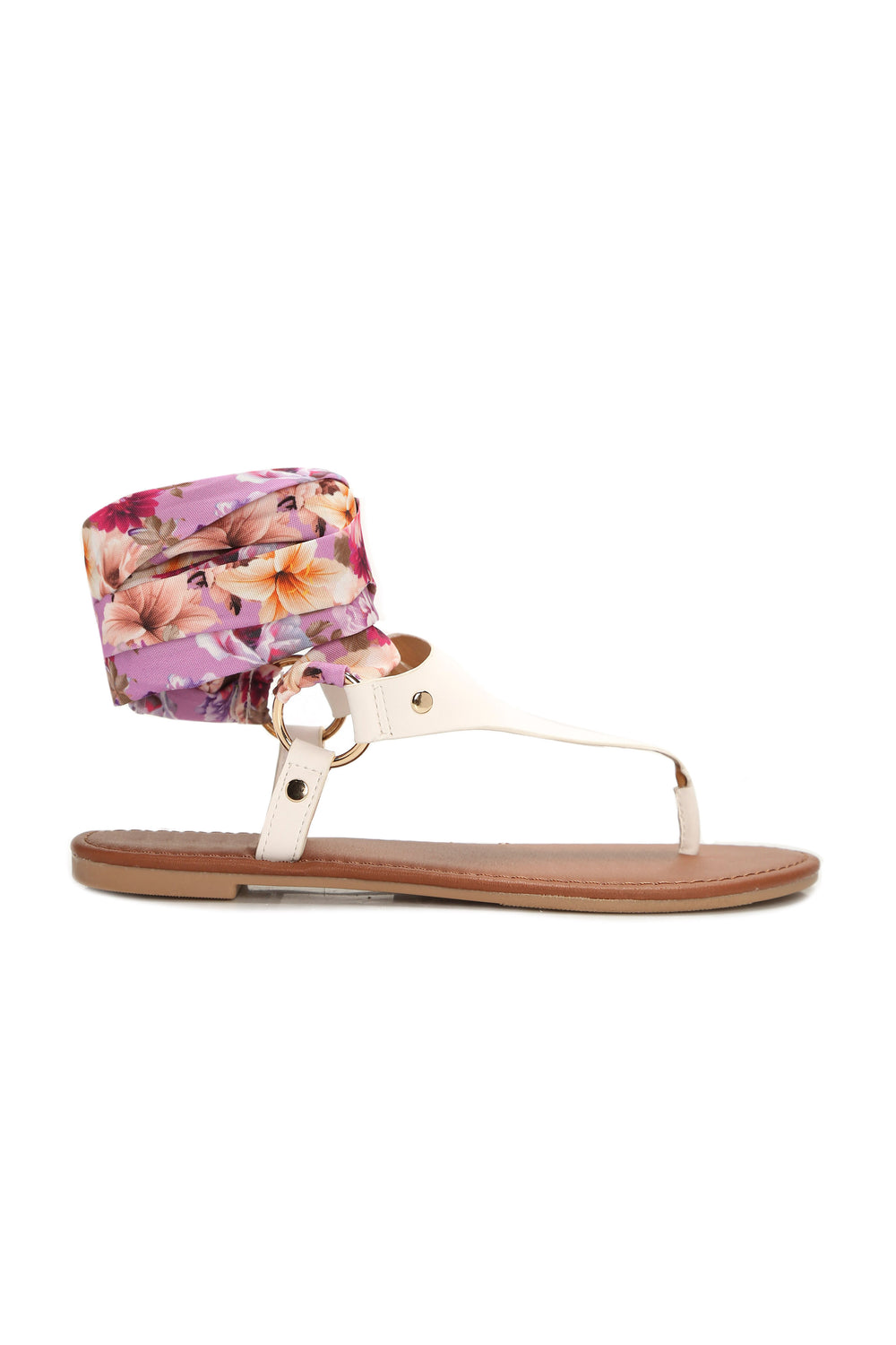 Tie The Look Together Sandal - White