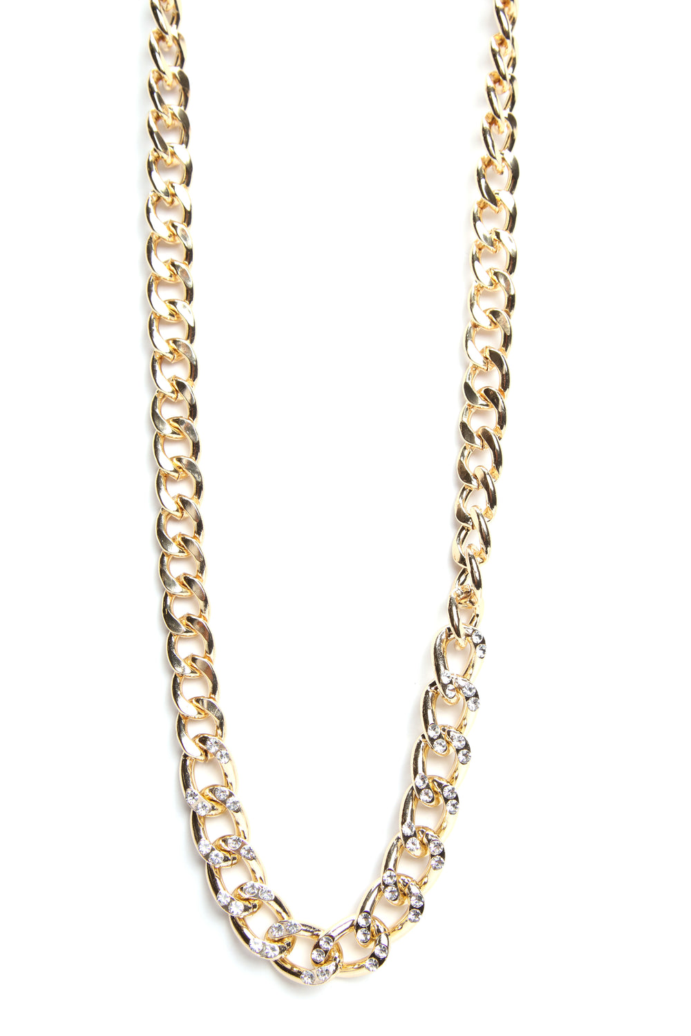 Iced Links Necklace - Gold