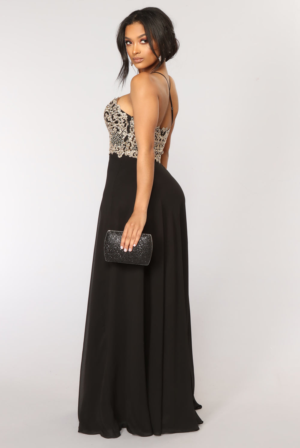 Noble Beaded Dress - Black