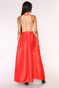 Suzanne Maxi Dress - Red