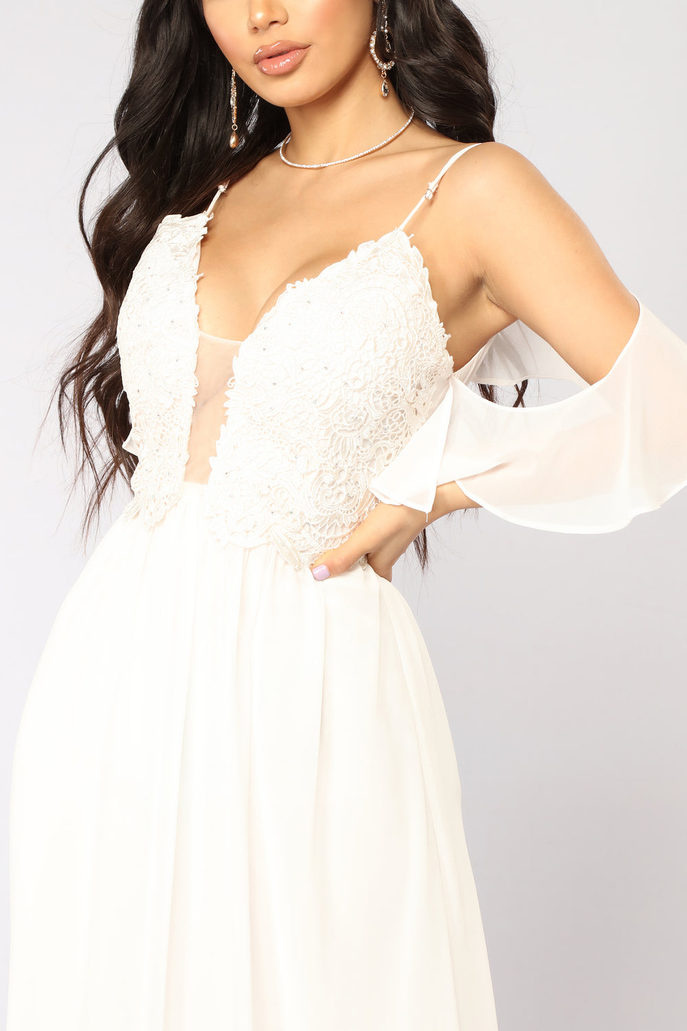 Glorious Lace Dress - Cream
