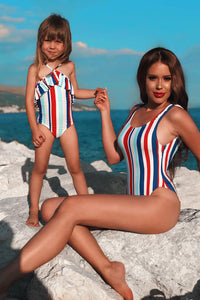 Mini Mi Amor Swimsuit - Blue/combo