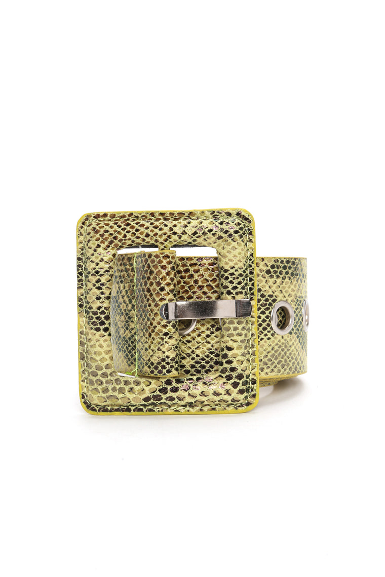 Snake Time Belt - Yellow