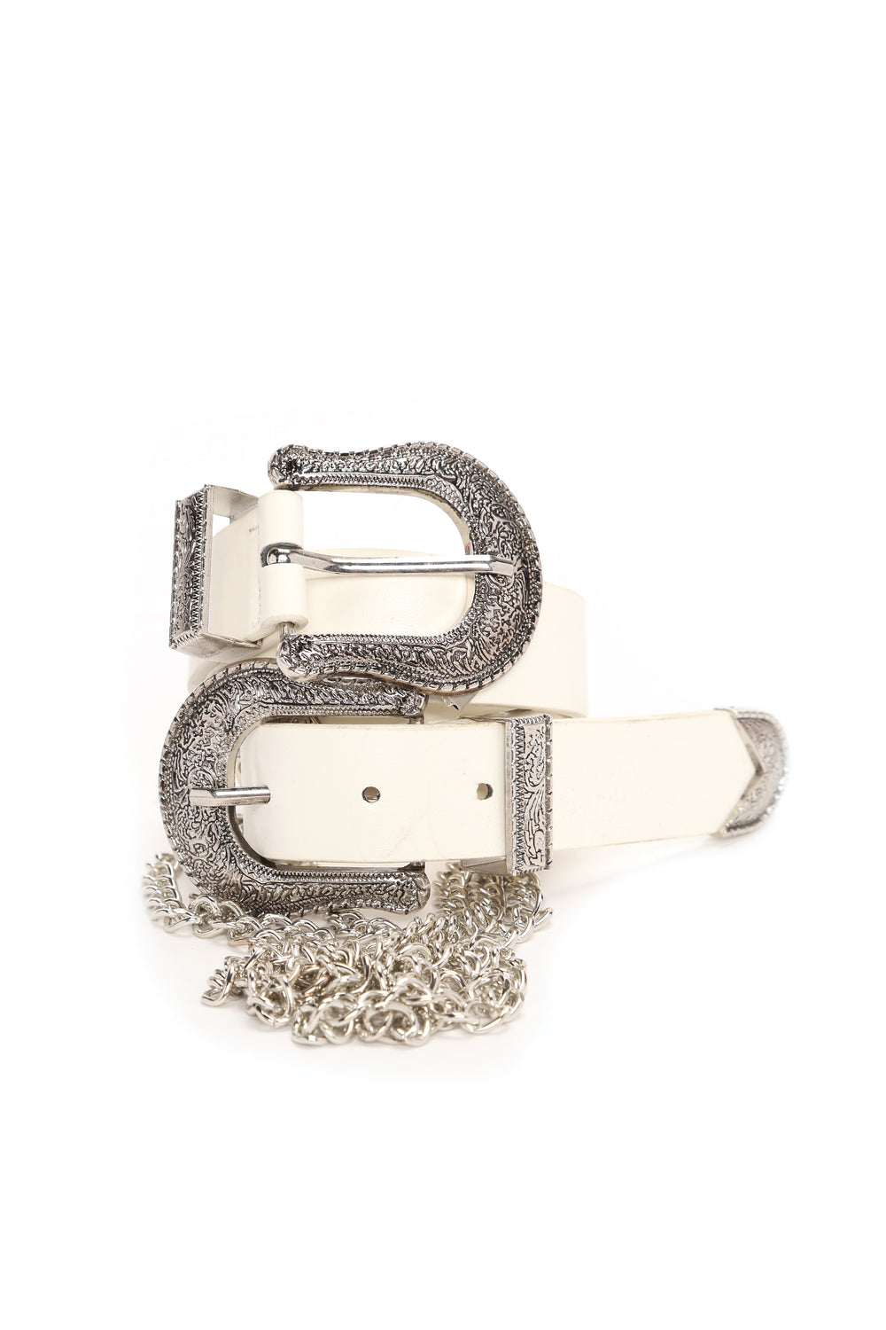 Can We Link Up Belt - White/Silver