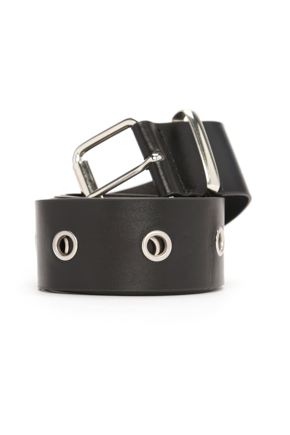 Hole Me Closer Belt - Black/Silver