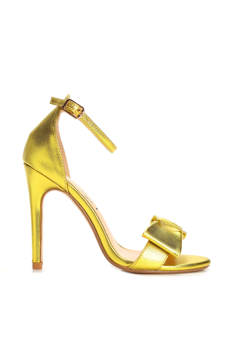 Bow Tied Heel - Yellow