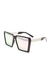 Stella Square Sunglasses - Black/Pink