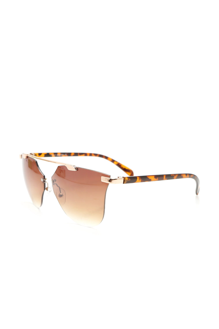 Have Some Patience Sunglasses - Gold/Brown