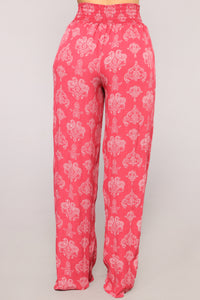 Paisley Baby Pants - Rose