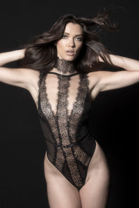 Make Amore Lace Teddy - Black
