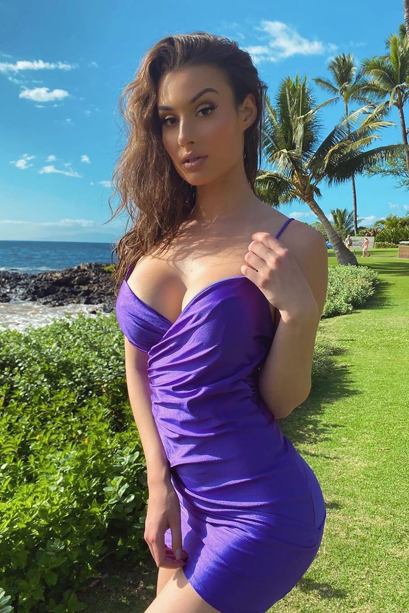 Midnight Dance Mini Dress - Purple