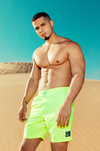 Montez Volley Trunk - Neon Yellow Angle 2