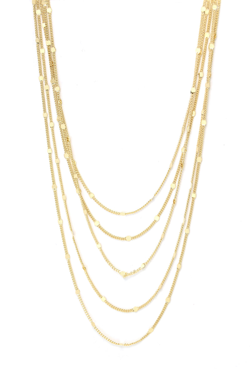 As It Falls Layered Necklace - Gold