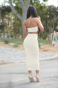 Olive Oil Skirt - White