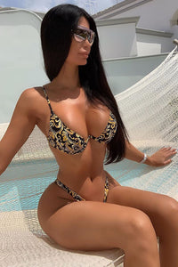On The Way All The Way 2 Piece Bikini- Black