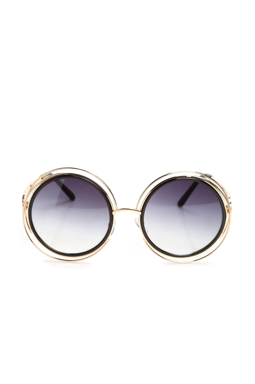 In Circles Sunglasses - Smoke/Gold