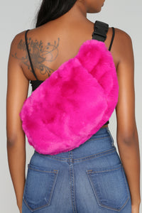 Looking Fur The One Fanny Pack - Fuchsia