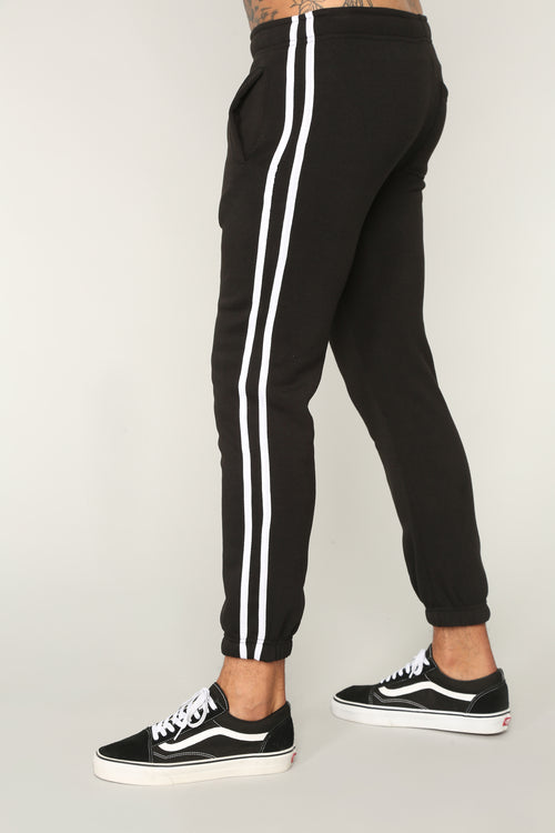 Stripped Joggers - Black/White