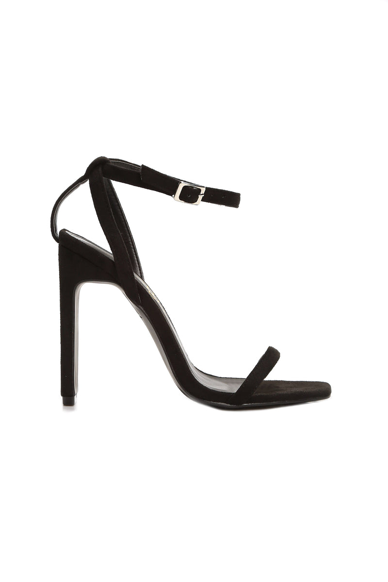 Square Up Heel - Black