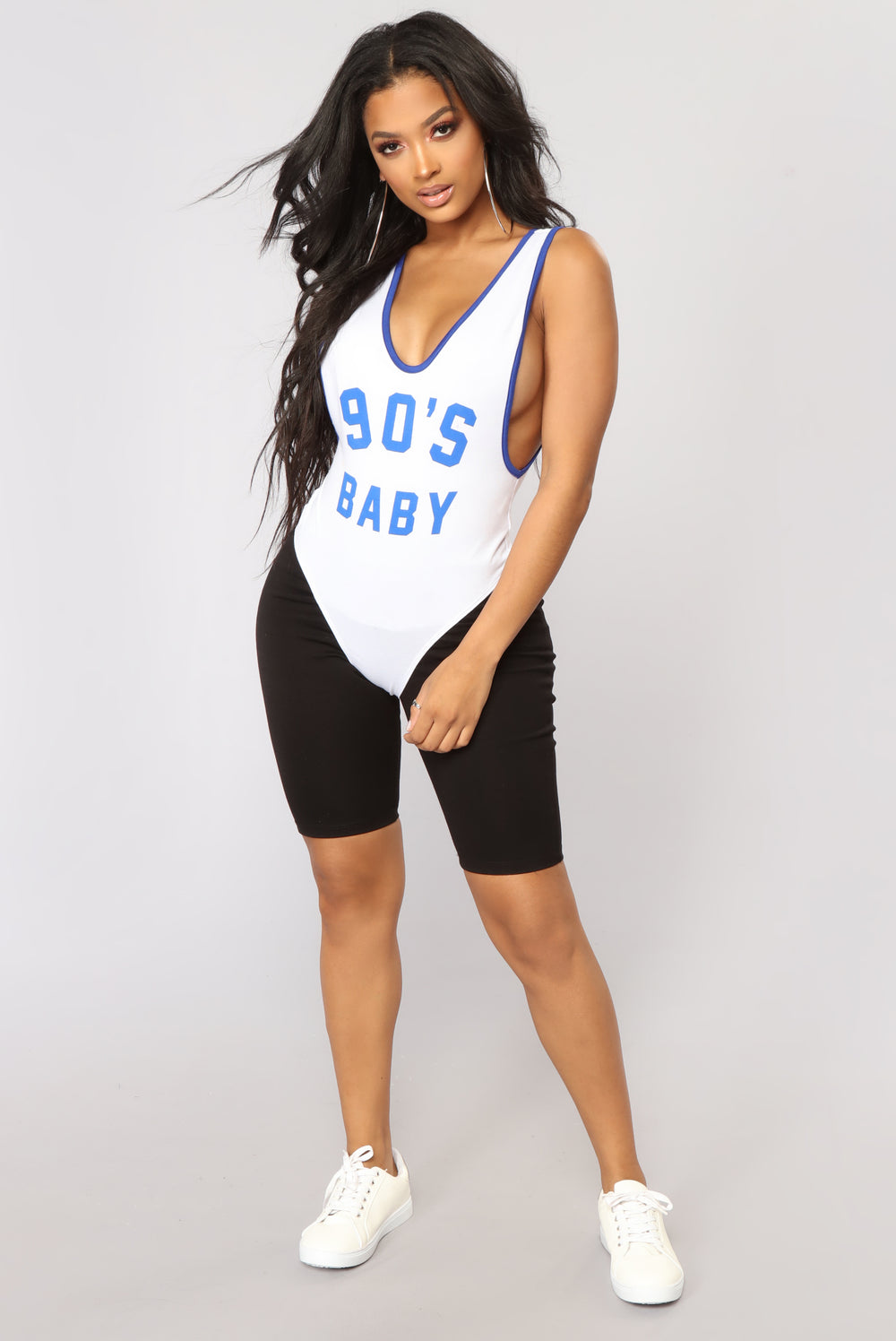Just A 90's Baby Bodysuit - White
