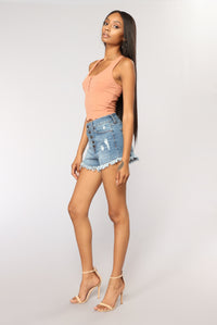 Jack Cropped Top - Rust Angle 2