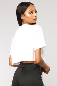Tres Chic Cropped Top - White