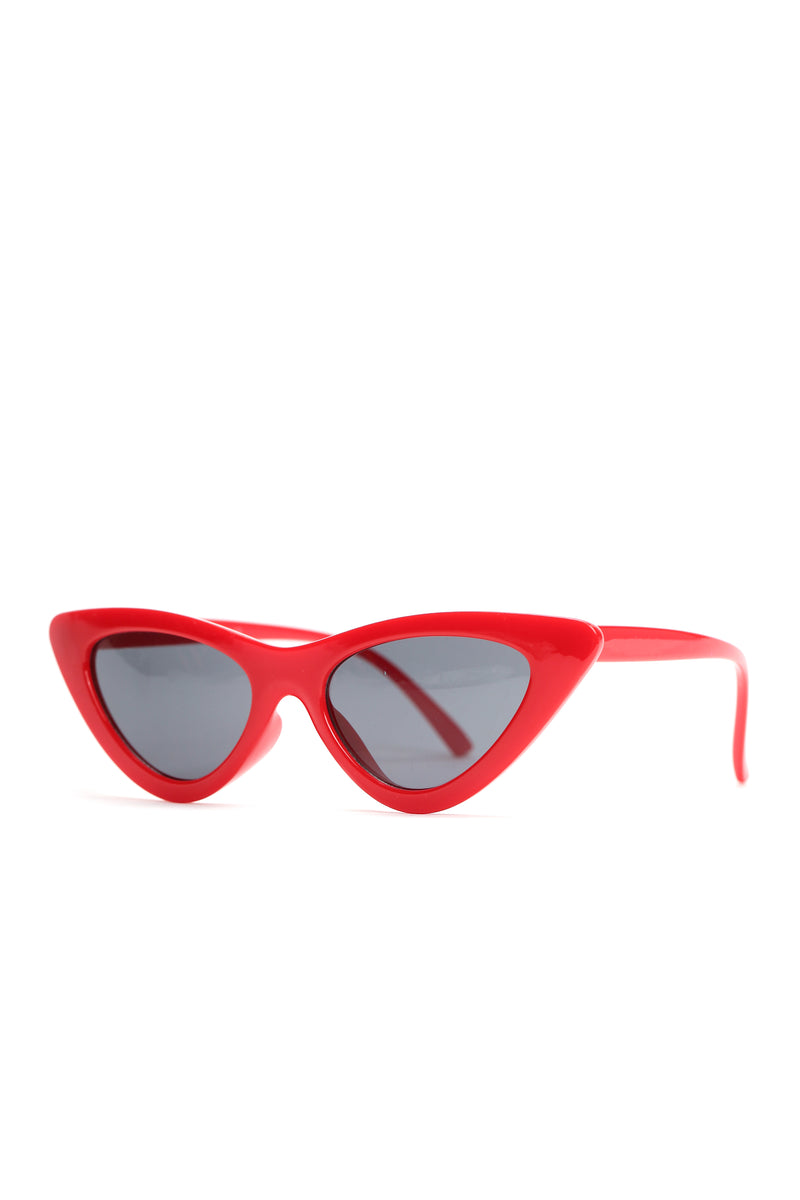 Need You Meow Sunglasses - Red
