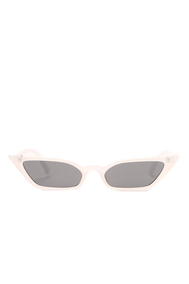 Cat To Know Me Sunglasses - Clear/Black