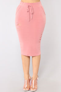 Casual Lover Skirt - Mauve Angle 1