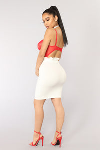 Look At My Ruffle Skirt - White