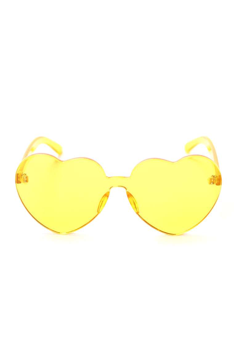 Don't Touch The Heart Sunglasses - Yellow