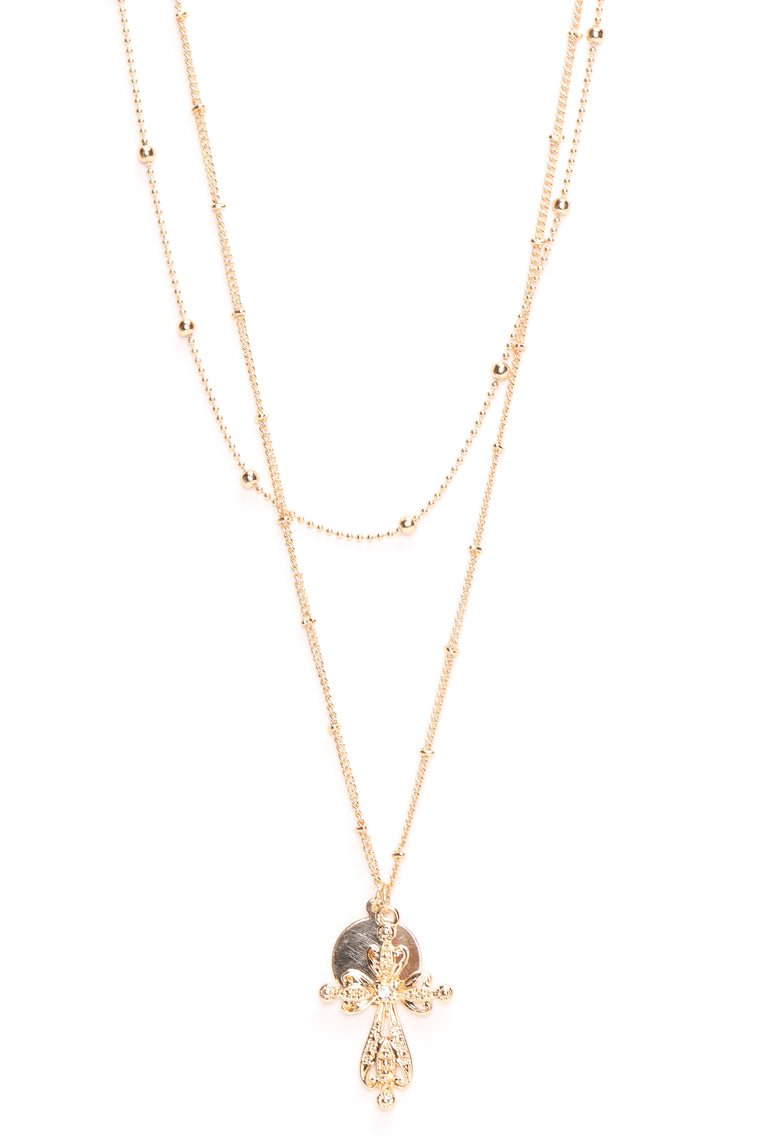 A Cross The Room Necklace - Gold