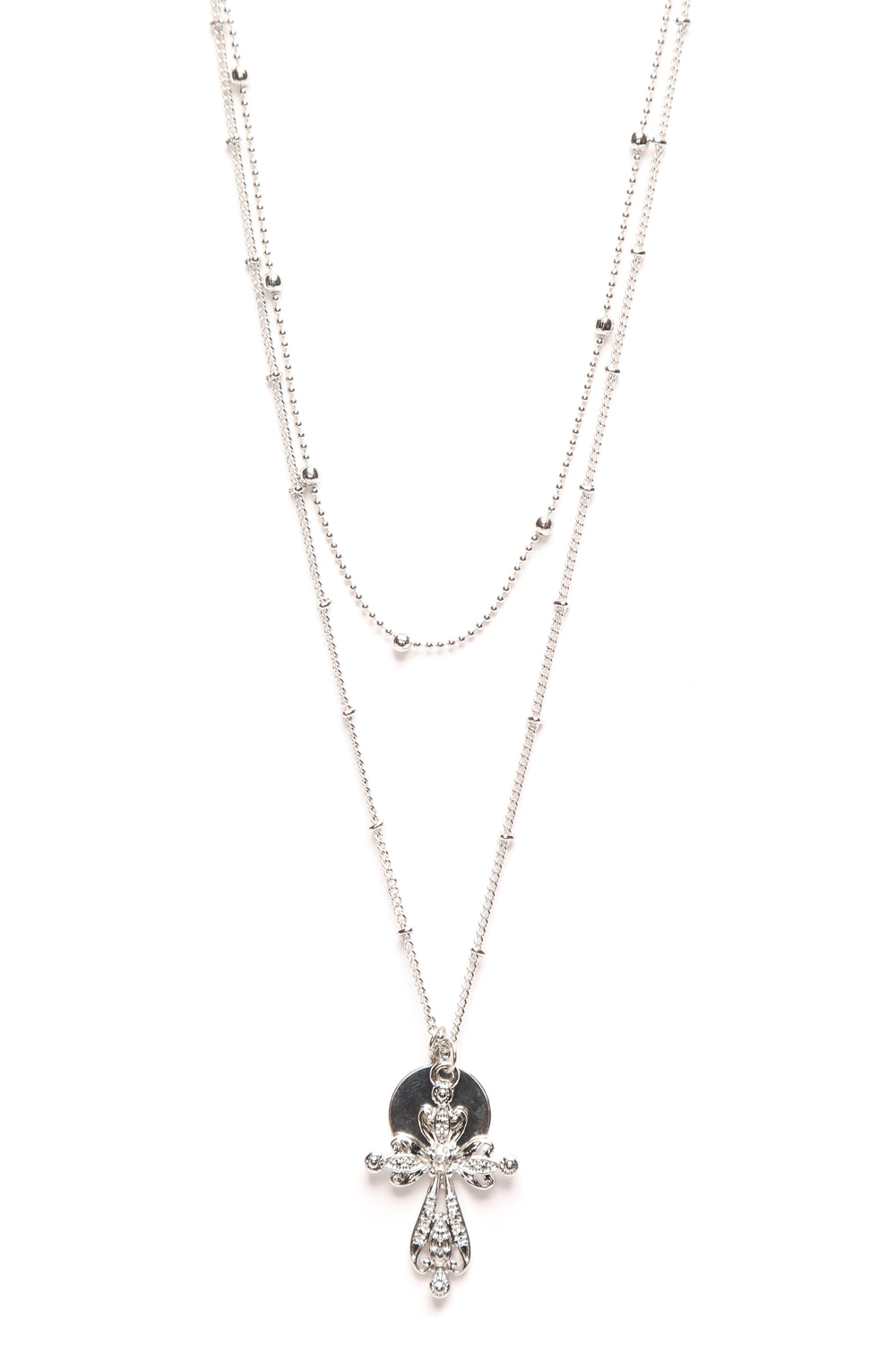 A Cross The Room Necklace - Silver