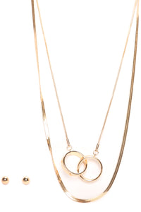 Ringing Together Necklace - Gold