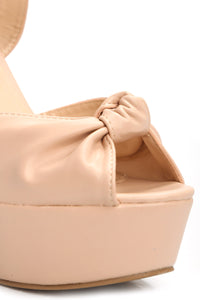 Keep You Here Wedge - Nude