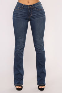 All The Flares Jeans - Dark Denim