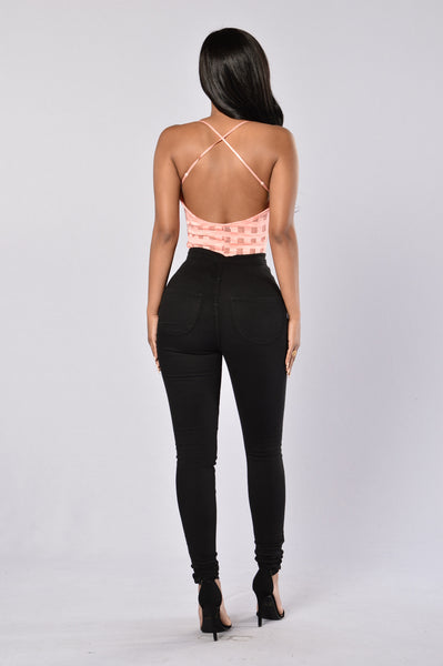 Fresh Off the Block Bodysuit - Peach