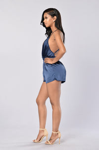 Private Weekend Romper - Navy Angle 5