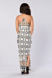Waves Dress - Grey Multi