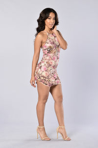 Karma Dress - Taupe/Pink